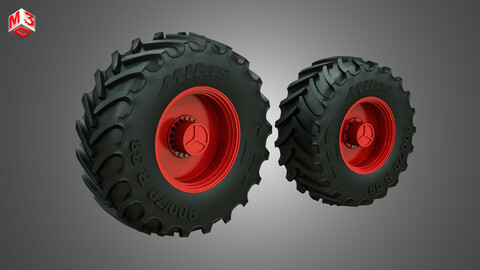 Tractor Tires and Rims - T07