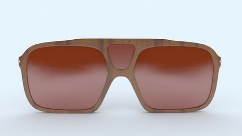 Sunglasses Wooden Brown Frame