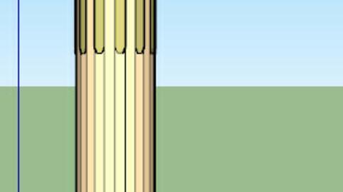 old egyptian column