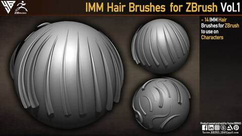 IMM Hair Brushes for ZBrush