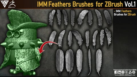 IMM Feathers Brushes for ZBrush