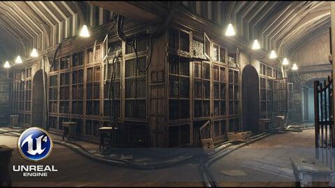 "The ""Bookworm Experiment"" _ Library Scene [UE4]"
