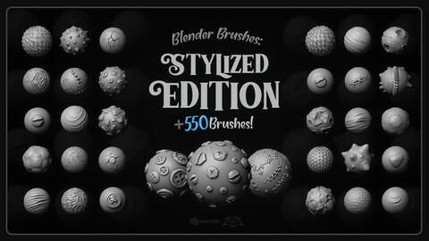 [MEGAPACK] 550+ Blender Brushes: Stylized Edition (4K Alphas Included)
