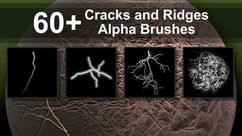 60+ Alpha Brushes - Cracks and Ridges