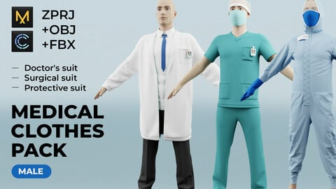 Medical clothes pack (male)