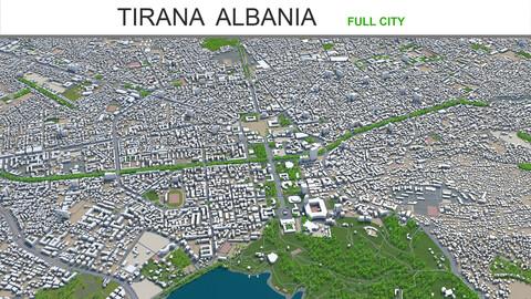 Tirana city Albania 3d model 20km