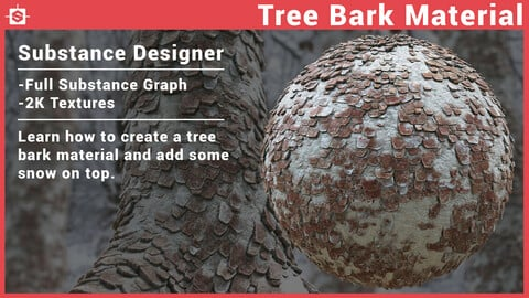Tree Bark Material - Substance Designer