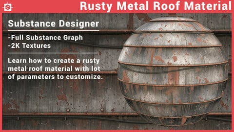 Metal Roof Substance Designer Material