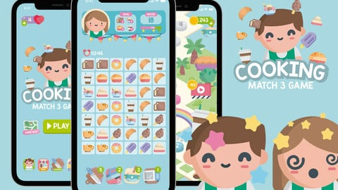 Cooking Match 3 Game Assets