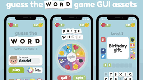 Guess the Word Game Gui Assets