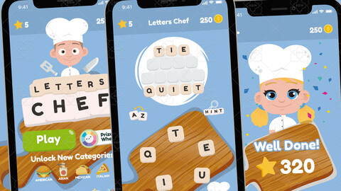 Word Chef Game Gui Assets