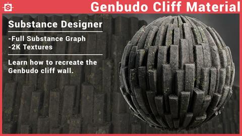 Genbudo Cliff Substance Designer