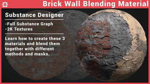 Brick Concrete Plaster Wall