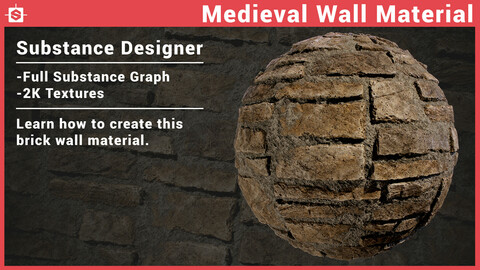 Medieval Wall Material in Substance Designer