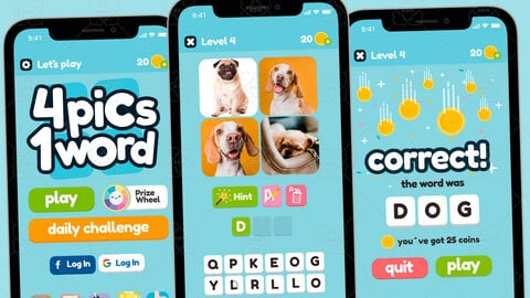 4 Pics 1 Word Game Gui Assets