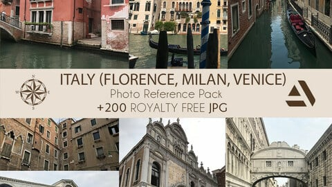 Photo Reference Pack: Italy (Florence, Milan, Venice)