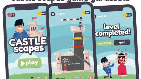 Castle Scapes Style Game Gui Assets