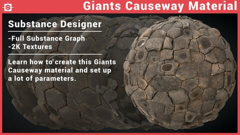 Giants Causeway Material - Substance Designer