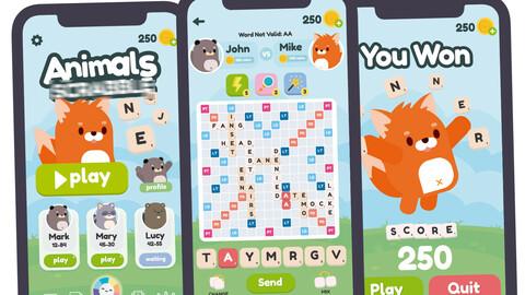 Animals Scrabble Game Gui Assets