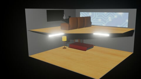 Drawing Room And BedRoom Diorama