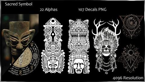 Ancient Sacred Symbol - 22 Alpha - 107 Decal PNG