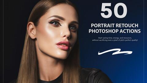 50 Portrait Retouch Photoshop Actions