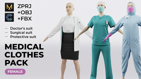 Medical clothes pack (female)