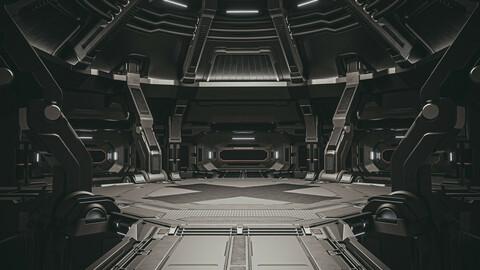 Sci-fi scene black abyss