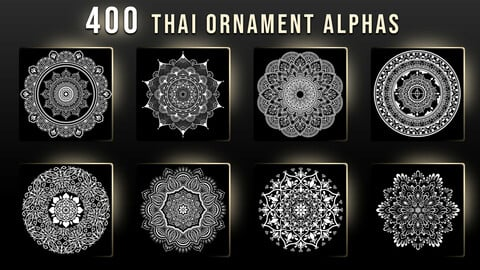 400 Thai Ornament Alphas
