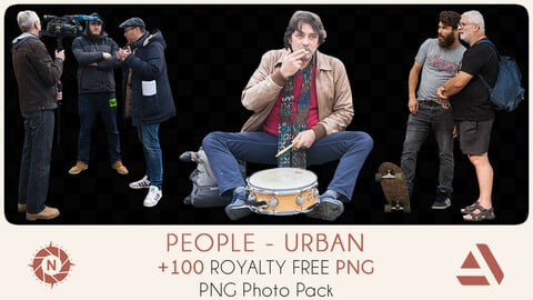 PNG Photo Pack: People - Urban