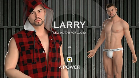 LARRY ~ Our very first super high quality male avatar fully rigged & ready for CLO and MD user. He definitely can boost your project to next level! (Compatible CLO 5~6.0)