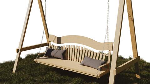 Swing - Garden - Playground - PBR - High Quality 3D model