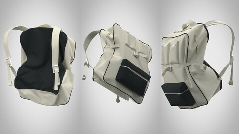 Very simple backpack 3d model