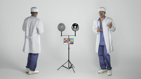 Confused african american male doctor 251