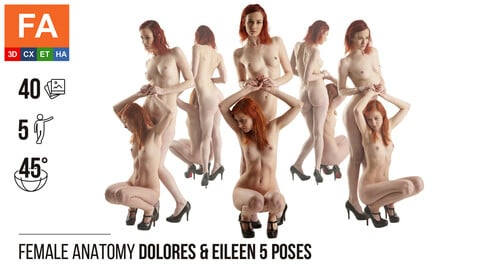 Female Anatomy | Dolores & Eileen 5 Various Poses | 40 Photos