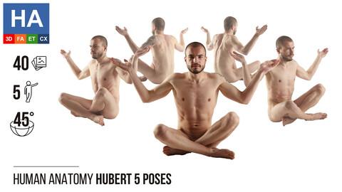 Human Anatomy | Hubert 5 Sitting Poses | 40 Photos