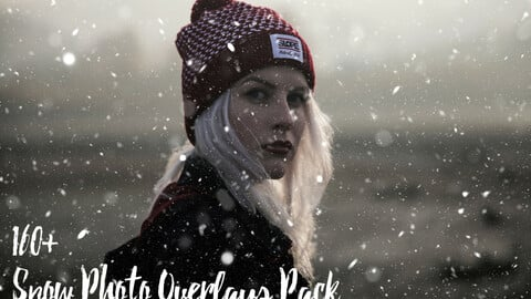 160+ Snow Photo Overlays Pack