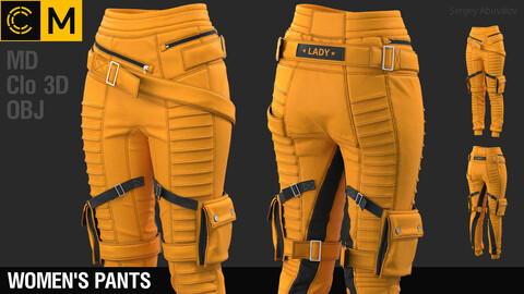 Women's pants / Marvelous Designer / Clo 3D project + obj