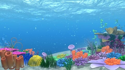 Under Water Location - 02 - Animation and Rigged
