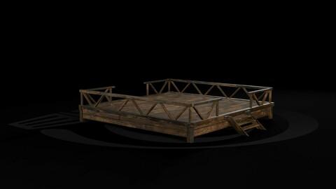 AAA Medieval Primal Jungle Wooden Platform 01 R