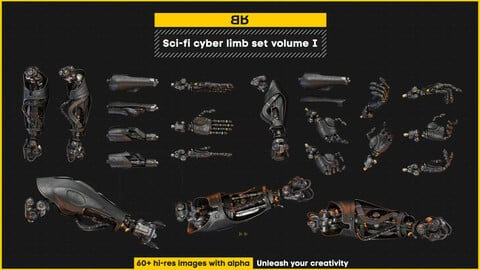 Sci-fi cyber limb set volume I