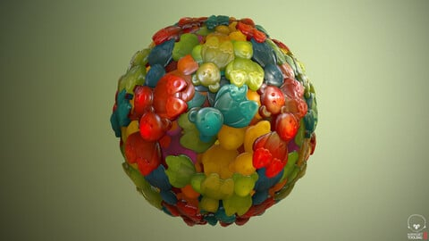 Gummy Bears Material - Substance Designer