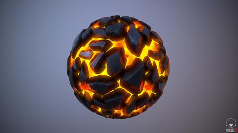 Molten Rocks Material - Substance Designer