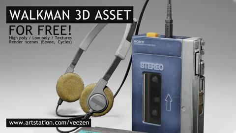 Walkman Free (Blender/High poly model)