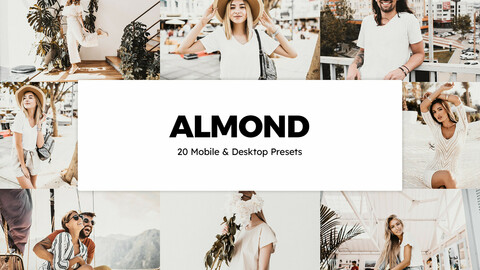 20 Almond LUTs and Lightroom Presets