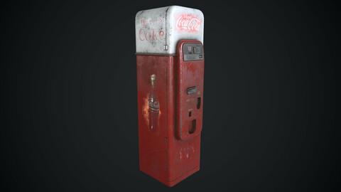 Coca Cola Vendo 44 Old Rust Worn Low-poly 3D model