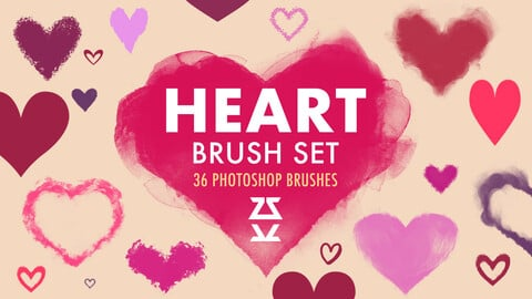 Heart Brush Set