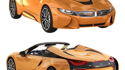 bmw i8 roadster orange