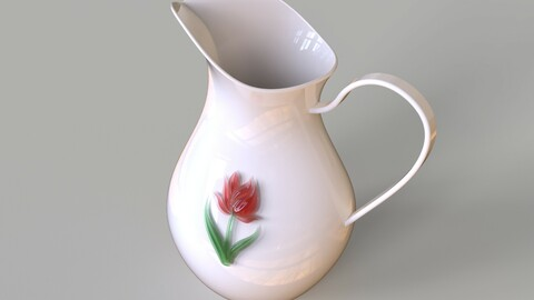glass and ceramic pitcher