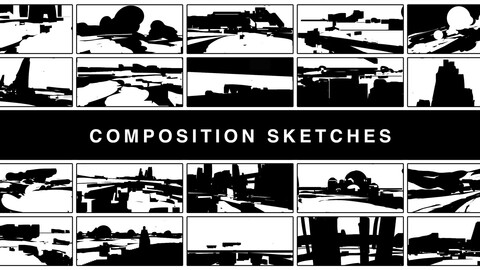 Video process | Graphic composition | Environment thumbnail sketches